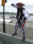 Conwy Pirate Festival Blackbeard frowning