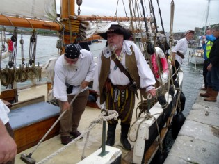 Conwy Pirate Festival with Greybeard in charge