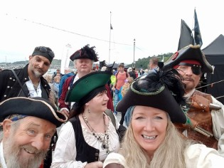 Pirates up to no good at the Conwy Pirate Festival