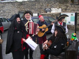 Buskers at Conwy Pirate Festival