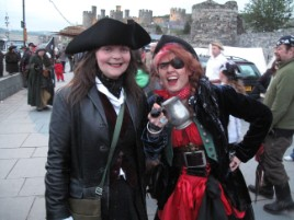 Wenches at Conwy Pirate Festival