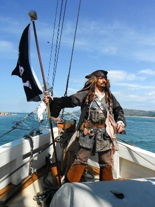Striking a pose for the Conwy Pirate Festival