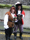 Conwy Pirate Festival Pan Hook and Parrot