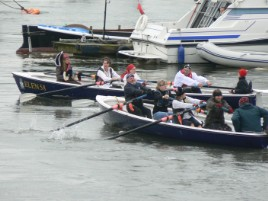 Long boat race at Conwy Pirate Festival