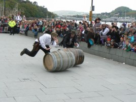 Overtaking at Conwy Pirate Festival